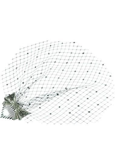 Bijou pour les cheveux motif nœud avec voilette strassée « Gwenaël », Azzaro Prix : 330 €
